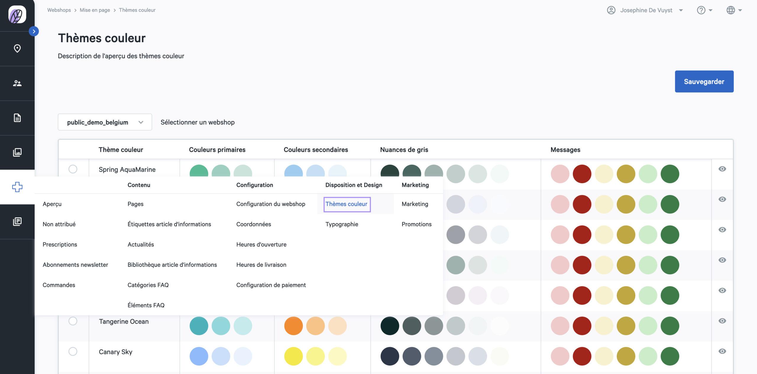couleurs webshop